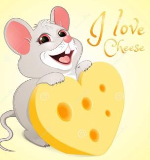 topo-bianco-con-un-pezzo-di-formaggio-108029912
